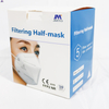 Filtering Half-mask CE EN 149:2001+A1:2009 5PCS transparent plastic bag