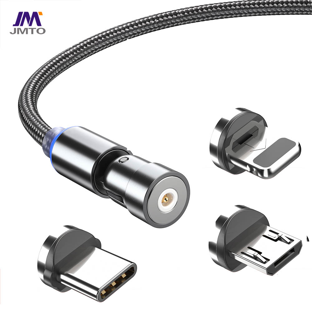 USB TYPE-C3 in 1 Cable 540° rotate Magnetic
