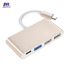 Type C TO USB2.0 HUB Adapter Laptop Power Adapter Gold