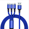 USB 3 IN 1 Nylon braid Cable TYPE-C/Micro/Lightning